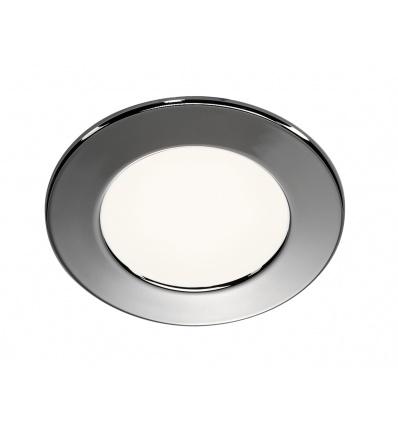 DL 126 LED, encastré rond, chrome, 2,8W LED 3000K, 12V