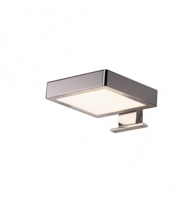 DORISA LED, luminaire de miroir carré, chrome, LED 6,6W 4000K, IP44
