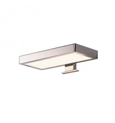 DORISA LED, luminaire de miroir, rectangulaire, chrome, LED 6,6W 4000K