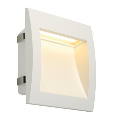 DOWNUNDER OUT LED L, encastré mural blanc, LED 0,96W 3000K 155lm