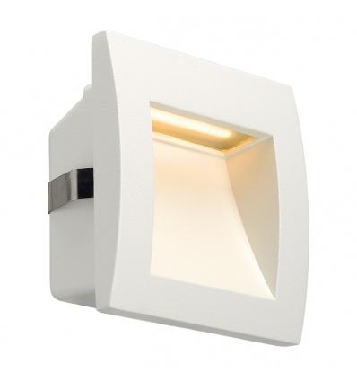 DOWNUNDER OUT LED S, encastré mural blanc, LED 0,96W 3000K, 40lm, IRC8