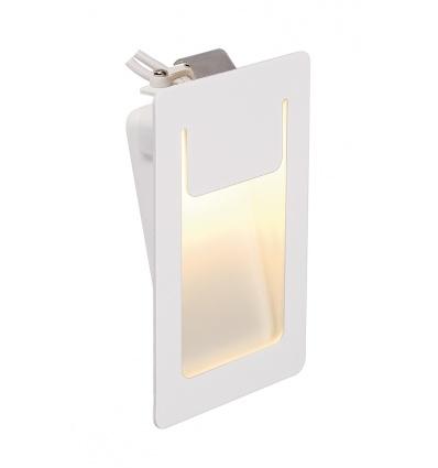 DOWNUNDER PUR 120 encastré, carré, blanc, 3,6W LED 3000K, 80x120mm