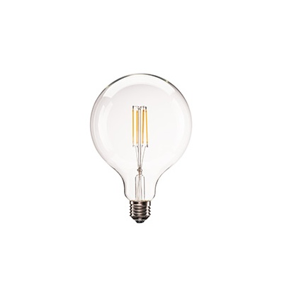 E27 LED G125, 330°, 2700K, 806lm, variable