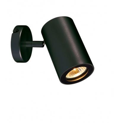 ENOLA_B spot 1, applique et plafonnier, noir, GU10, max. 50W