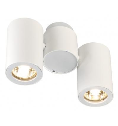 ENOLA_B spot double, applique et plafonnier, blanc, 2xGU10, max. 2x50W