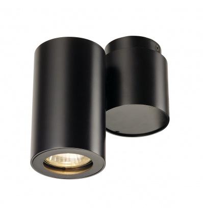 ENOLA_B spot simple, applique et plafonnier, noir, GU10, max. 50W