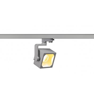 EURO CUBE spot gris argent, LED 3000K, 60°, IRC 90, adapt 3 all inclus