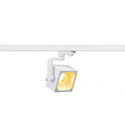 EURO CUBE spot, blanc, LED 3000K, 60°, IRC 90, adaptateur 3 all inclus