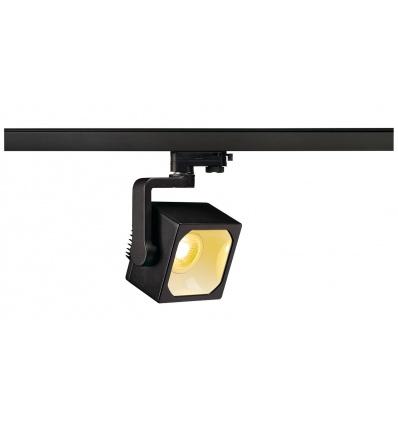EURO CUBE spot, noir, LED 3000K, 60°, IRC 90, adaptateur 3 all inclus