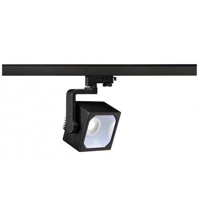 EURO CUBE spot, noir, LED 4000K, 60°, IRC 90, adaptateur 3 all inclus