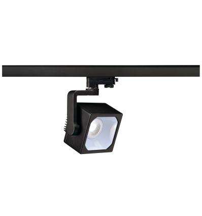 EURO CUBE spot, noir, LED 4000K, 90°, IRC 90, adaptateur 3 all inclus