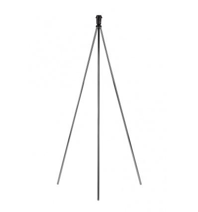 FENDA lampadaire trépied, chrome, sans abat-jour, E27, 40W max.