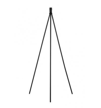 FENDA lampadaire trépied, noir, sans abat-jour, E27, 40W max.