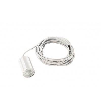 FITU E27 suspension, ronde, blanc, max. 60W, câble nu de 5m